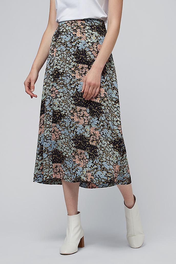 Louche Kiyo Bloom Floral Print Midi Skirt