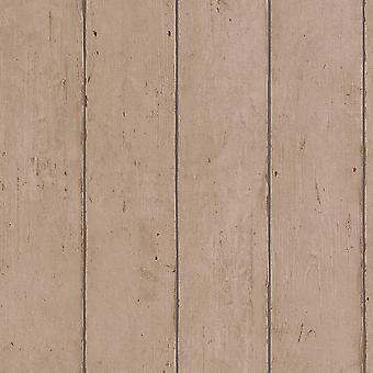 Panel de madera Fondo de pantalla Rasch Home Passion Marrón Texturizado En relieve