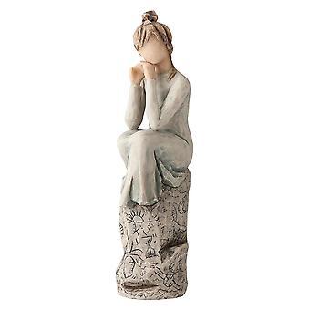 Figurine de patience d'arbre de saule