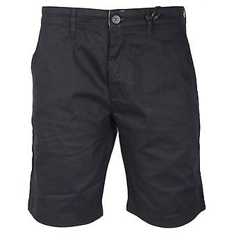 Lyle & Scott Cotton Black Chino Shorts