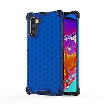 For Samsung Galaxy Note 10 tilfelle blå plast beskyttende honeycomb tilbake tilfelle