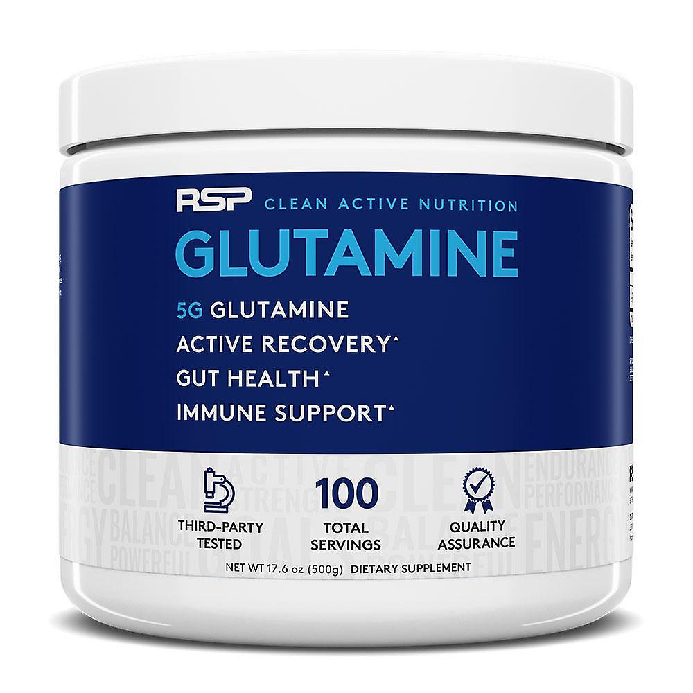 Rsp glutamine, lean muscle, overall health, micronized for absorption, gluten free (500g)