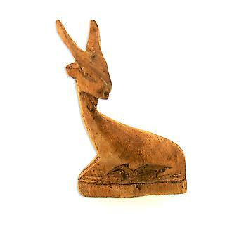 Handgemachte Holz Antilope Figur Skulptur - 7 cm