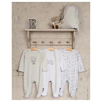 The Essential One Unisex 3 Pack Animal Frames Sleepsuits