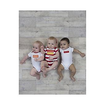 De Essential One Baby Unisex 50% Mummy 50% Daddy Bodysuits - 3 Pack