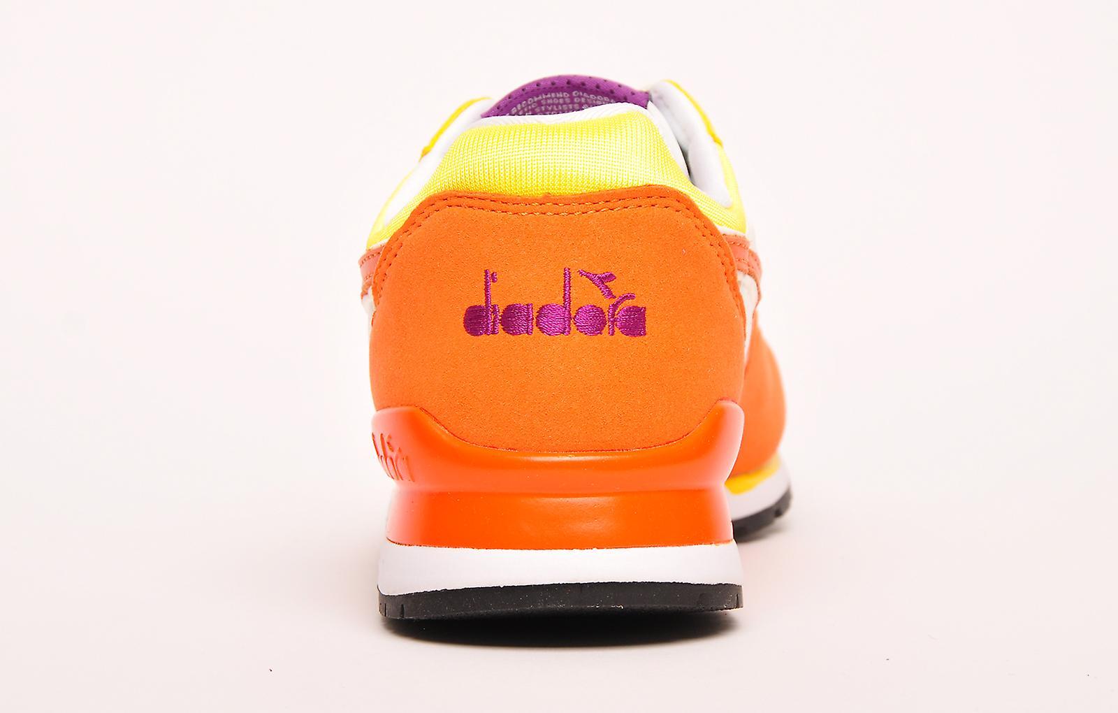 Diadora Intrepid NYL Heritage Vermillion Orange / Cyber Jaune / Blanc