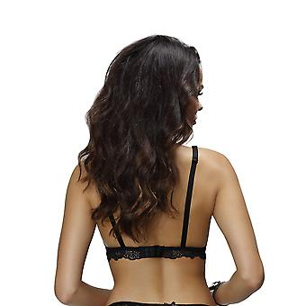 Nessa B1 Women's Fanny Black Solid Colour Lace Non-Padded Non-Wired Soft Bra