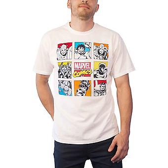 أعجوبة كاريكاتير تي شيرت الرجعية حرف كتل شعار جديد الرسمية الرجال الأبيض