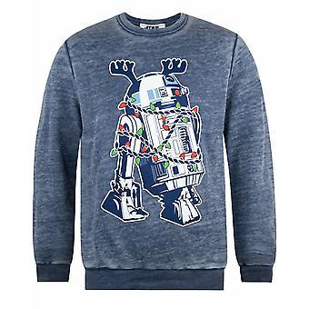 Star Wars R2D2 Dekorationer Utbrändhet Jul Sweatshirt