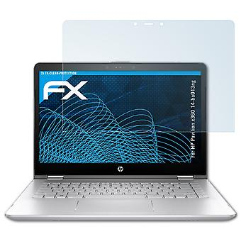 atFoliX Glass Protector compatible with HP Pavilion x360 14-ba013ng 9H Hybrid-Glass
