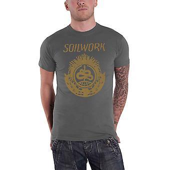 Soilwork T Shirt Snake Band Logo death metal new Official Mens
