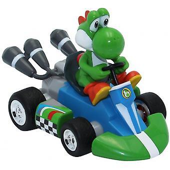 Nintendo Mario Kart Pull-back Racers Yoshi Bil 12cm