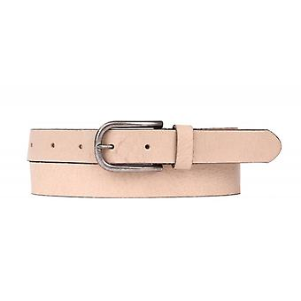 Tough Leather Belt With Long Buckle - Off White