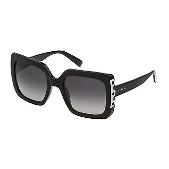 Furla SFU239 0700 Shiny Black/Smoke Gradient Sunglasses