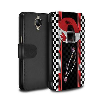 STUFF4 PU Leather Wallet Flip Case/Cover for OnePlus 3/3T/Canada/Montr�al/F1 Track Flag
