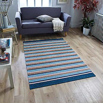 Pacific Anti Slip Rugs 176X In Blue And Beige