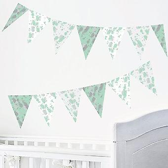 Ink Green Design Self Adhesive Bunting Wall Sticker