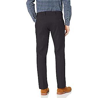 Dockers Men's Straight Fit Easy Khaki Pants D2, Dockers Navy (Stretch), 33 30