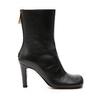 Bottega Veneta 578331vbpj01000 Women's Black Leather Enkellaarsjes