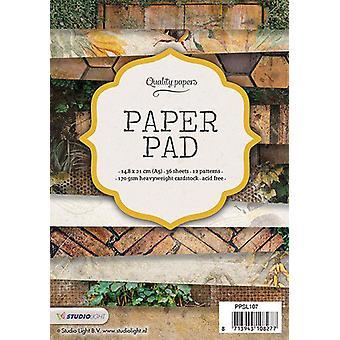 Studio Light Paper Pad A5 36 ark 12 mönster nr 107 PPSL107