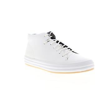Camper Hoops  Womens White Leather Lace Up Low Top Sneakers Shoes