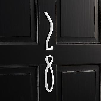 Brass Door Numbers - Chrome