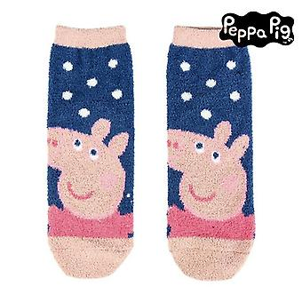 Non-slip Socks Peppa Pig 74476 Navy blue Pink