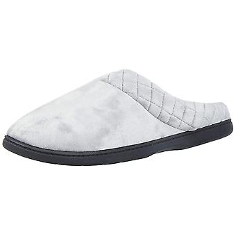 Dearfoams Womens velour clog Closed Toe Slip On Slippers