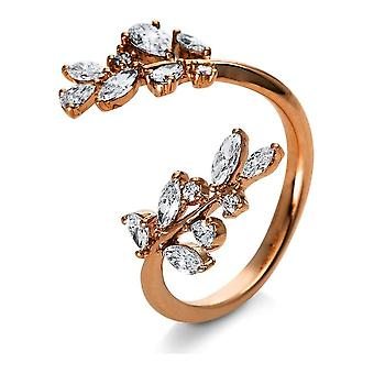 Diamond Ring Ring - 18K 750/- Red Gold - 0.79 ct. - 1R542R854 - Ring width: 54