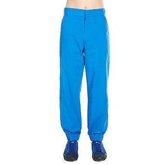 Moncler Genius Ezcr003003 Men's Blue Nylon Pants