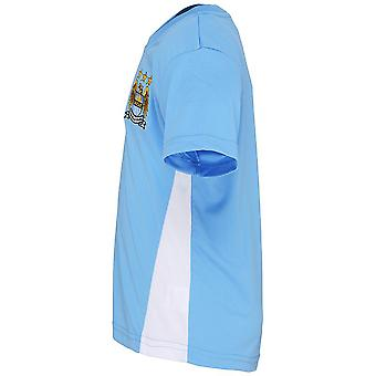 Official Football Merchandise Kids Manchester City FC Short Sleeve T-Shirt