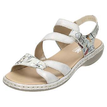 Rieker sandalias de Open Toe charol cuero 65969-82