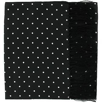 מייקלסון של לונדון הגדול פולקה דוט משי צעיף-שחור