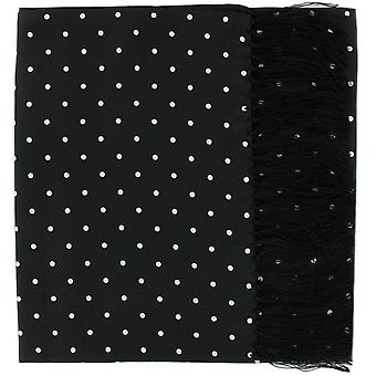Michelsons i London Wide Polka Dot Silk Scarf - Svart