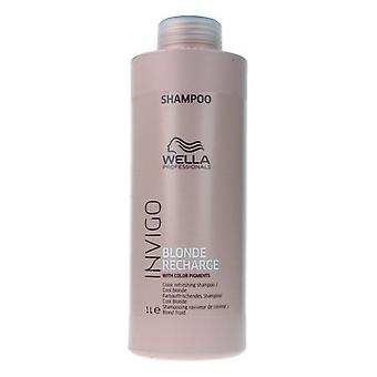 Shampoo für Blonde oder Graue haare Invigo Blonde Recharge Wella (1000 ml)