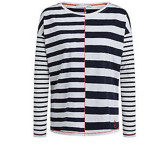 Oui Striped Jersey Top