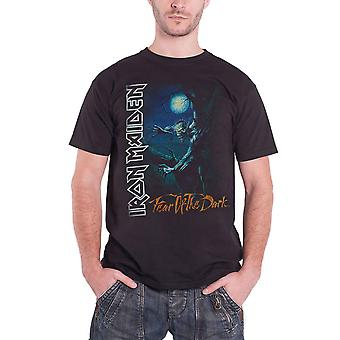 Logotipo de banda Iron Maiden T camisa medo de The Dark árvore Sprite Mens Black