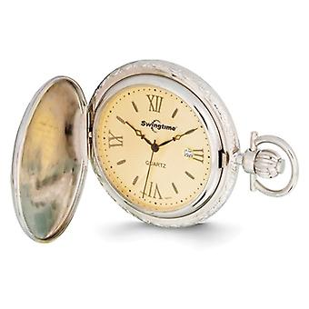 Swingtime Rose and Chrome Finish Pocket Watch 48mm