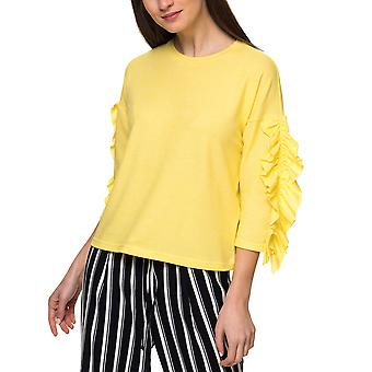 Only Women's Ida Spring 3/4 Ruffle Pullover Knit