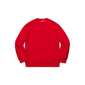 Supreme Cutout Logo Crewneck Red - Clothing