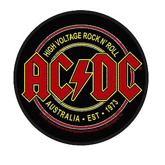 AC/DC Patch High Voltage Australia 1973 Official New Black Circular Woven