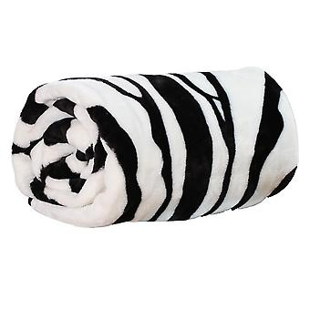 Animal Print Mink Blanket Zebra