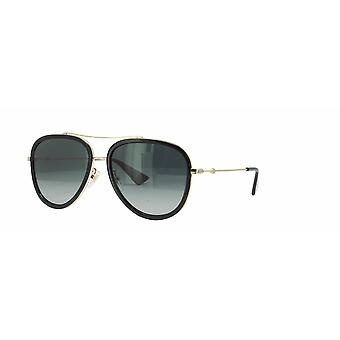Gucci GG0062S 011 Gold-Black Polarised/Grey Gradient Sunglasses