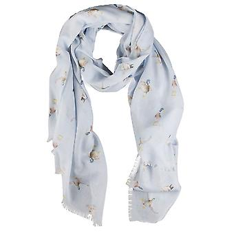 Wrendale Designs Scarf - A Waddle and a Quack in Skylark's Song colour