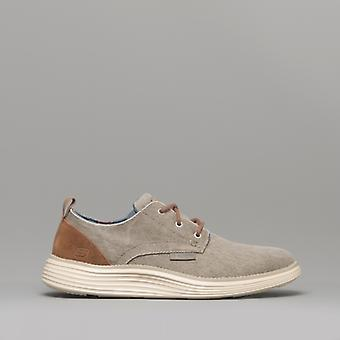 Skechers Status 2.0 Pexton Mens Trainers Taupe