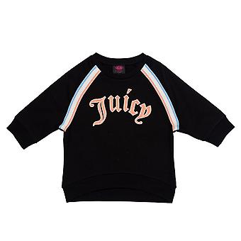 Girl's Juicy Couture Junior Gothic Script Sweat in Black
