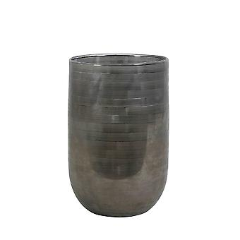 Florero ligero y vivo 20x30cm Tallegna vidrio gris oscuro
