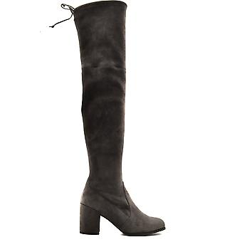 Stuart Weitzman Ezbc158029 Women's Grey Suede Boots