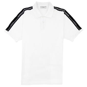 Givenchy Band Polo Shirt Weiß