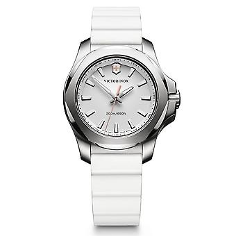 Victorinox Swiss Army Watches 241769 I.n.o.x. Silver & White Rubber Ladies Watch